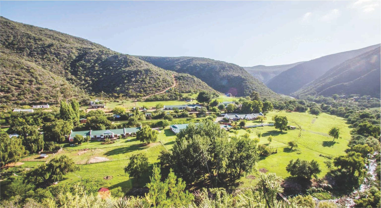 The Oudtshoorn landmark, the Oude Meul Guest Lodge and Game Farm, in the foothills of the Swartberg Mountains is on the market for the first time ever.                     Photo supplied